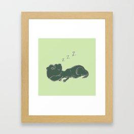 DINOSNORE Framed Art Print