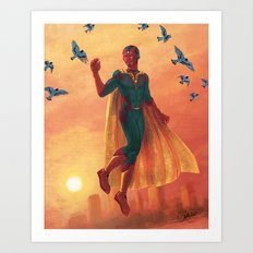 walking in the air Art Print