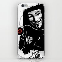 vendetta iPhone & iPod Skins featuring Vendetta by Facey Artist