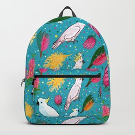 Australian Native Birds and Flowers Backpack