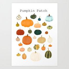 Pumpkin Patch Season Art Print