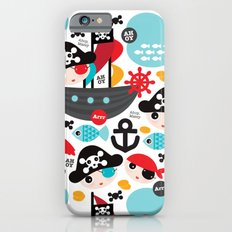Cute kids pirate ship and parrot illustration pattern Slim Case iPhone 6s