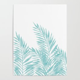 Palm Leaves Island Paradise Poster