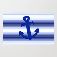 nautical Area & Throw Rugs featuring Nautical by The Wellington Boot