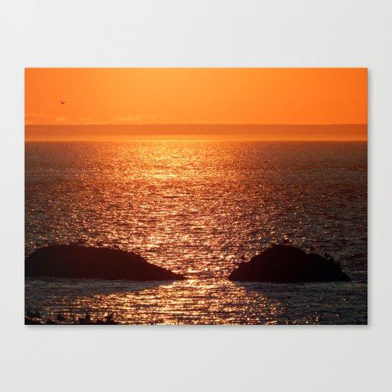 Orange Skies at Sunset Canvas Print