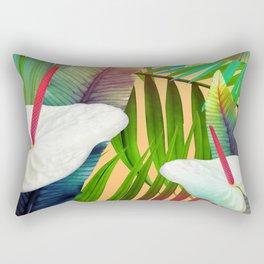 Island Flowers Rectangular Pillow