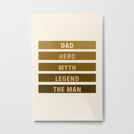 Dad 2 #fathersday Metal Print