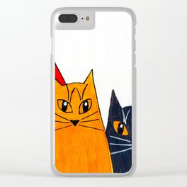 Five Cats Clear iPhone Case