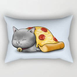 Purrpurroni Pizza Rectangular Pillow