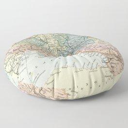 Vintage Map of Russia Floor Pillow
