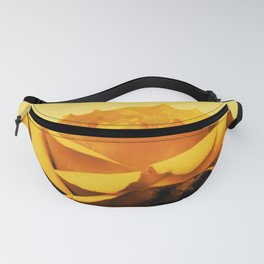 Vintage Yellow Rose and buds Fanny Pack