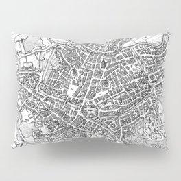 Vintage Map of Ghent Belgium (1650) BW Pillow Sham