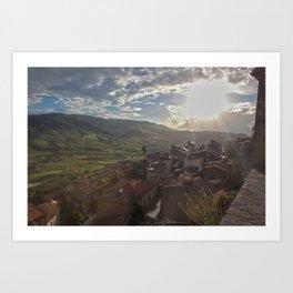 Sperlinga, Sicily Art Print
