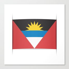 Flag of Antigua and Barbuda.  The slit in the paper with shadows.  Canvas Print
