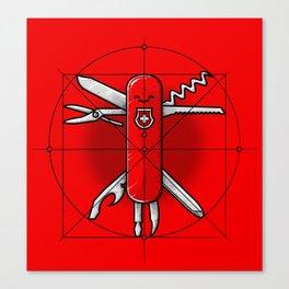 Vitruvian Swiss Knife Canvas Print