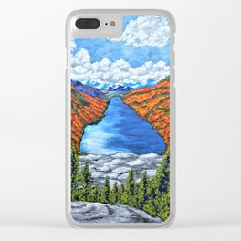 A View of the Blue Mountains of the Adirondacks Clear iPhone Case