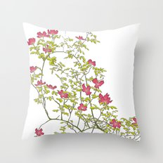 Little potted garden Throw Pillow