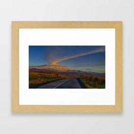 Etna sunset Framed Art Print