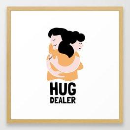 THE HUG DEALER Framed Art Print