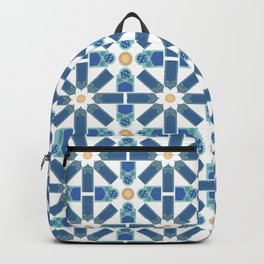 Moroccan Tile Pattern Backpack