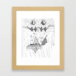 Adventure Island Monster Framed Art Print
