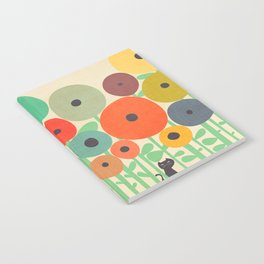 Cat in flower garden Notebook