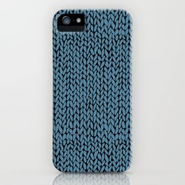 Hand Knit Niagra Blue iPhone Case