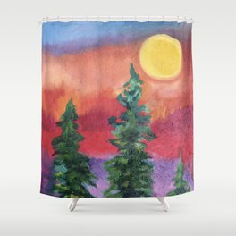 Fire in the Northern Sky Shower Curtain