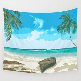 White sand beach Wall Tapestry