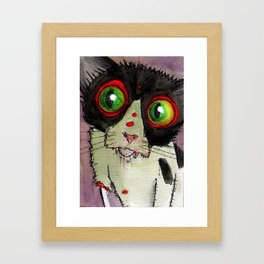 Gypsy Zombie Kitten Framed Art Print