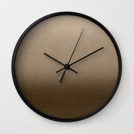 Brown Ombre Wall Clock