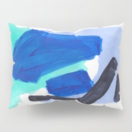 Ocean Torrent Whirlpool Teal Turquoise Blue Pillow Sham