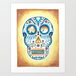 Pacific NW Skull Art Print