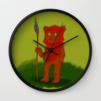 ewok Wall Clocks featuring Ewok by Delucienne Maekerr
