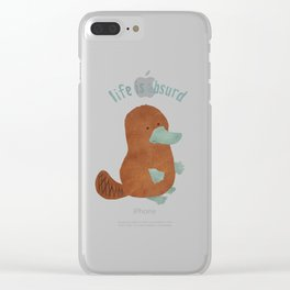 Platypi Don't Lie Clear iPhone Case