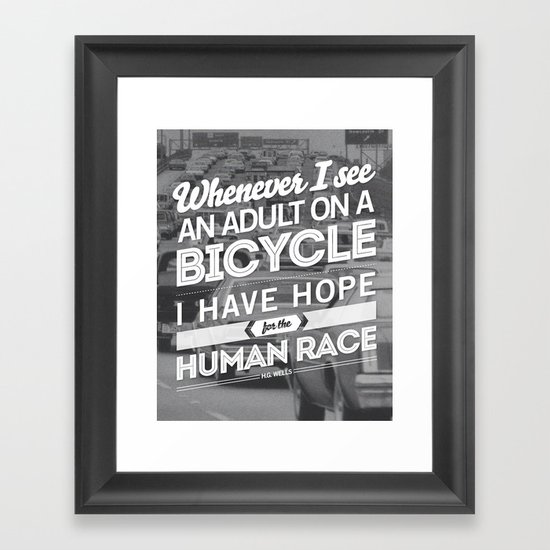 Hope For The Human Race Framed Art Print