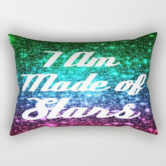 I Am Made Of Stars Affirmation Galaxy Sparkle Stars Rectangular Pillow