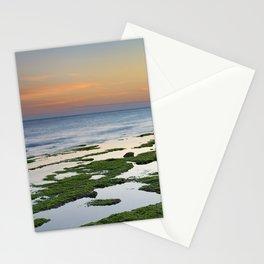 Green coast. Mediterranean sea. Stationery Cards