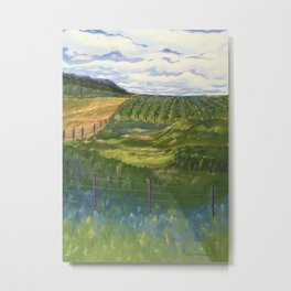 Summer Day on Dry Hill Metal Print