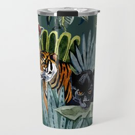 Jungle with tiger and tucan Travel Mug