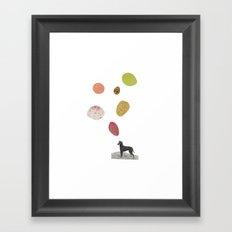 the thinking dog Framed Art Print