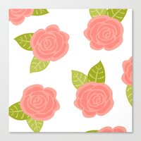 roses Canvas Prints featuring Roses by Paint Me Pink