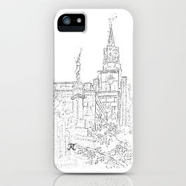 LDS Temple Collage Sketch iPhone Case