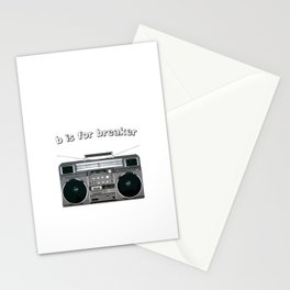 B is for Breaker Stationery Cards
