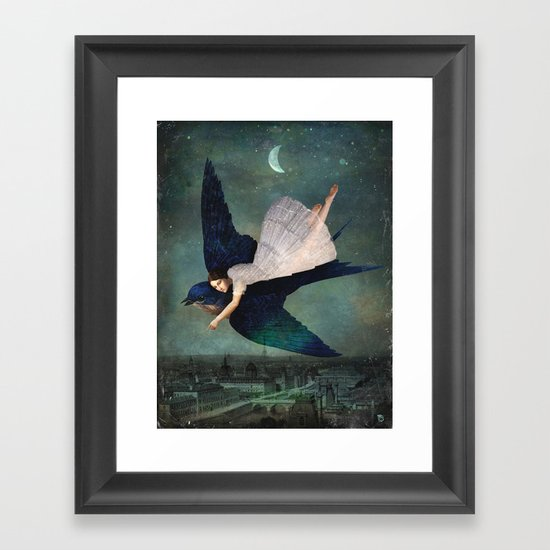 Fly Me To Paris Framed Art Print By Christian Schloe