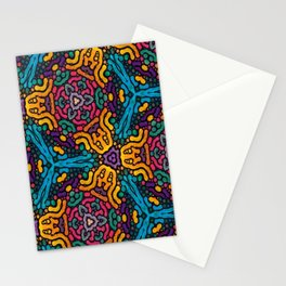 grubby colors kaleidoscope pattern Stationery Cards