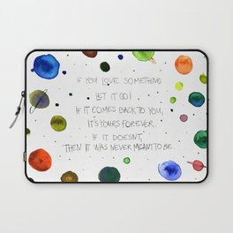 Let It Go, watercolor painting Laptop Sleeve