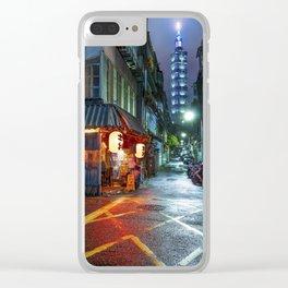 Night in Taipei Clear iPhone Case