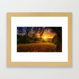 Scenic landscape Photo at Sunset Framed Art Print