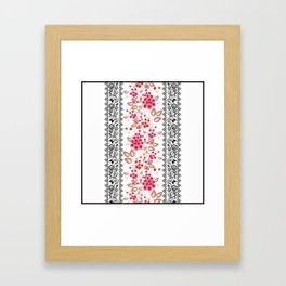 Red flowers . Framed Art Print